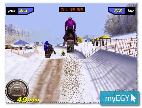 صورة من لعبة موتسكلات الجليد اخر اصدار