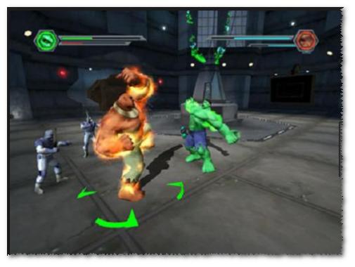 صورة من واجهة لعبة الرجل الاخضر