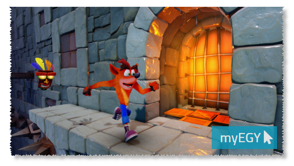 صورة من مستويات لعبة كراش بانديكوت