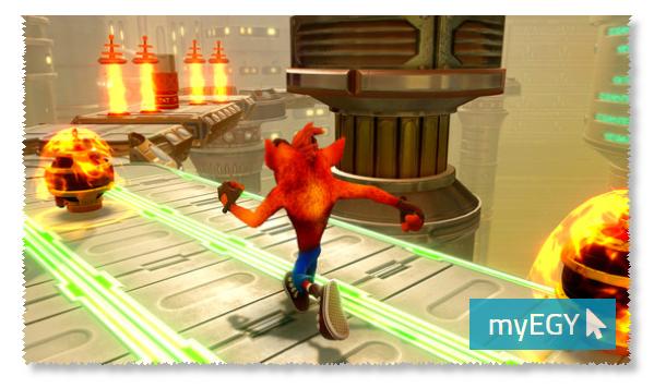 صورة من مغامرات لعبة كراش بانديكوت
