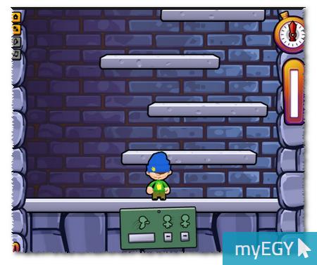 صورة من واجهة لعبة الرجل النطاط