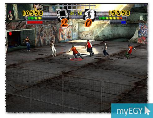 صورة من واجهة لعبة كرة الشوارع